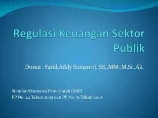Regulasi Keuangan Sektor Publik