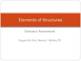 Elements of Structures