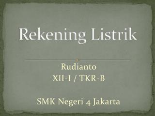 Rekening Listrik