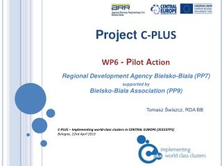 C-PLUS – Implementing world-class clusters in CENTRAL EUROPE (2CE237P1) Bologna ,  22nd April 2013