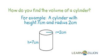 How do you find the volume of a cylinder?