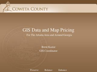 GIS Data and Map Pricing