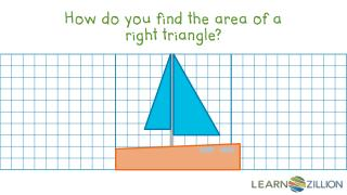 How do you find the area of a right triangle?