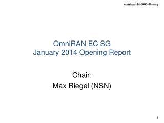 OmniRAN EC SG January 2014 Opening Report
