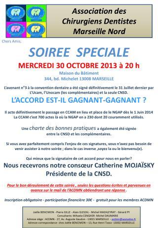 Association des  Chirurgiens Dentistes  Marseille Nord