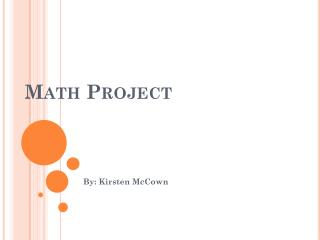 Math  P roject
