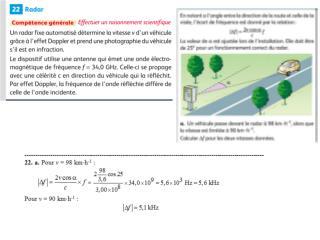 c.  Variation relative de fréquence : (  432-373)/432  = 0,135, soit 13,5 %