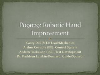 P09029: Robotic Hand Improvement