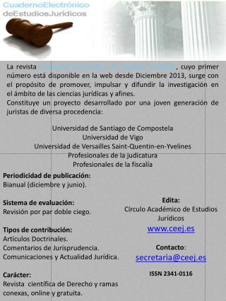 Edita: Círculo Académico de Estudios Jurídicos ceej.es Contacto : secretaria@ceej.es