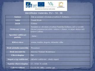 Identifikátor materiálu: EU – 14  - 38