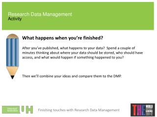Research Data Management Activity