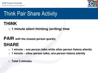 Think Pair Share Activity