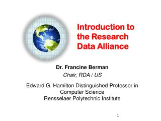 Introduction to the Research Data Alliance