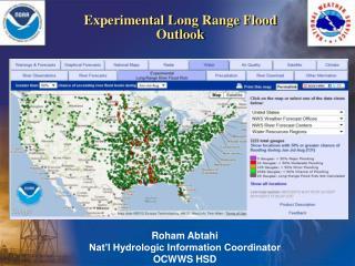 Experimental Long Range Flood Outlook