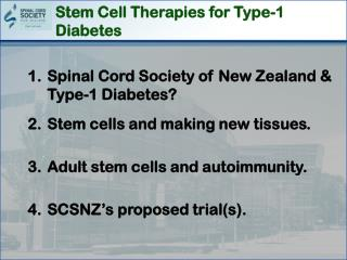 Stem Cell Therapies for Type-1 Diabetes