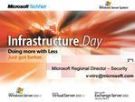 Microsoft Regional Director   Security v-nircmicrosoft