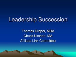 Leadership Succession