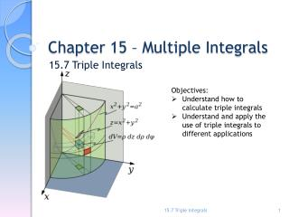 Chapter 15 � Multiple Integrals
