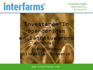 Investeren in boerderijen  en landbouwgrond