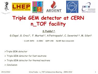 T riple  GEM detector at CERN  n_TOF  facility