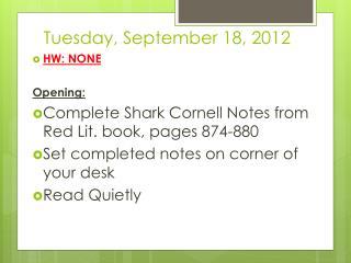 Tuesday, September 18, 2012