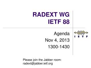 RADEXT WG IETF  88
