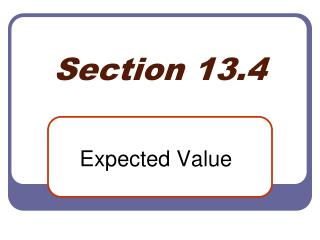 Section 13.4
