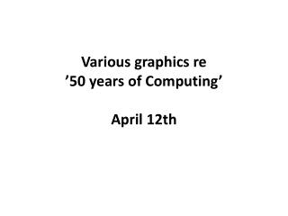 Various graphics re '50 years of Computing' April 12th
