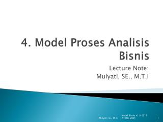 4. Model Proses Analisis Bisnis