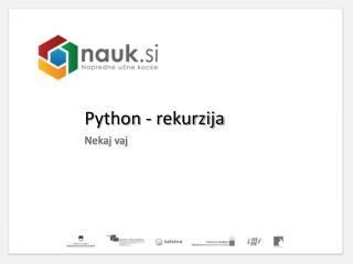 Python  - rekurzija
