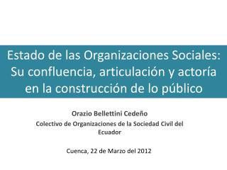 Orazio Bellettini Cedeño Colectivo de Organizaciones de la Sociedad Civil del Ecuador