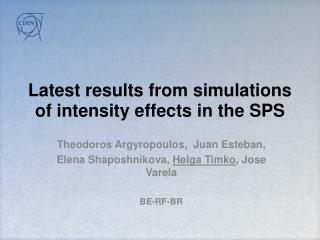 Latest results  from simulations of intensity effects in the SPS
