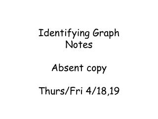 Identifying Graph Notes Absent copy Thurs/Fri 4/18,19