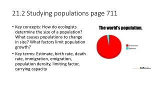 21.2 Studying populations page 711