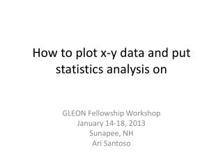 How to plot x-y data and put statistics analysis on