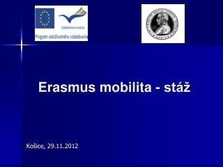 Erasmus  mobilita - stáž