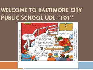 "Welcome to  Baltimore City Public School  udl  ""101"""