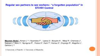 "Regular sex partners to sex workers:- ""a forgotten population"" In STI/HIV Control"