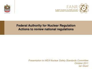 Federal Authority for Nuclear Regulation Actions to review national regulations