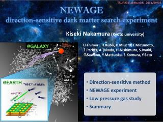 NEWAGE d irection-sensitive  dark matter  search experiment