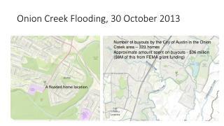Onion Creek Flooding, 30 October 2013