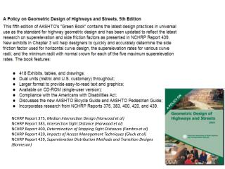 NCHRP Report 375,  Median  Intersection Design (Harwood  et al )
