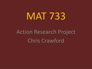 MAT 733