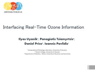 Interfacing Real-Time Ozone Information