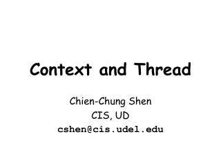 Context and Thread
