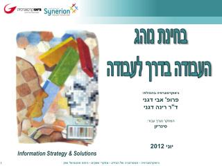 Information Strategy & Solutions