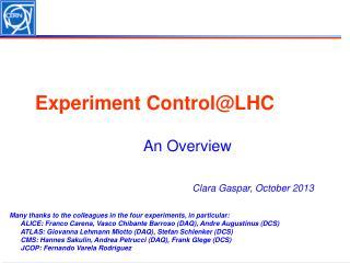 Experiment  Control@LHC
