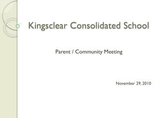 Kingsclear Consolidated School