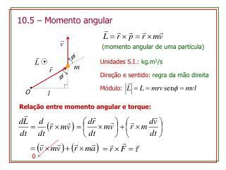 10.5  –  Momento  angular