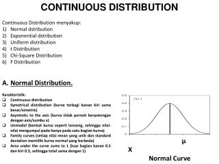 CONTINUOUS DISTRIBUTION